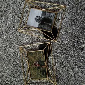 Set of 2 Cynthia Rowley Gold Geometric Frames